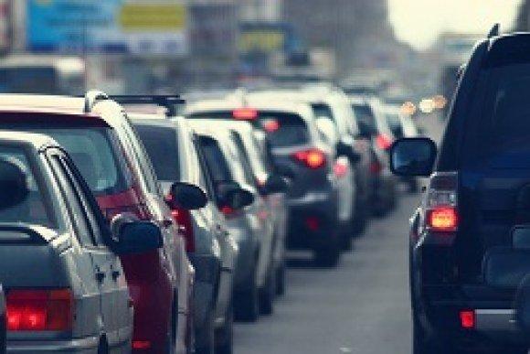 auto parts traffic behind