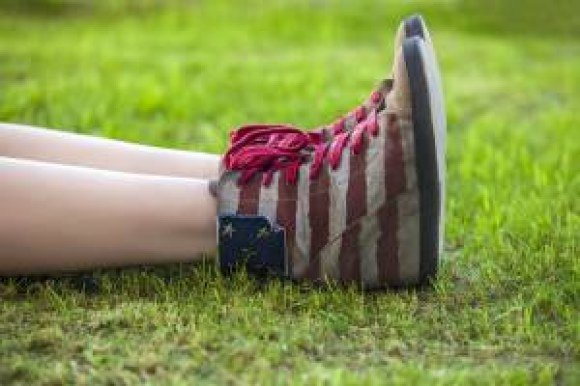 boston proper flag shoes