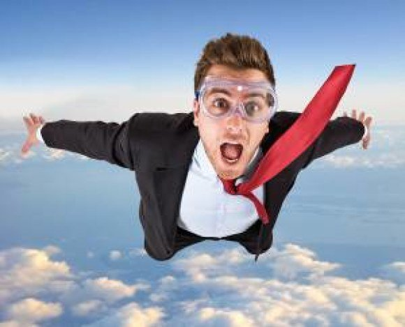 verizon man skydiving