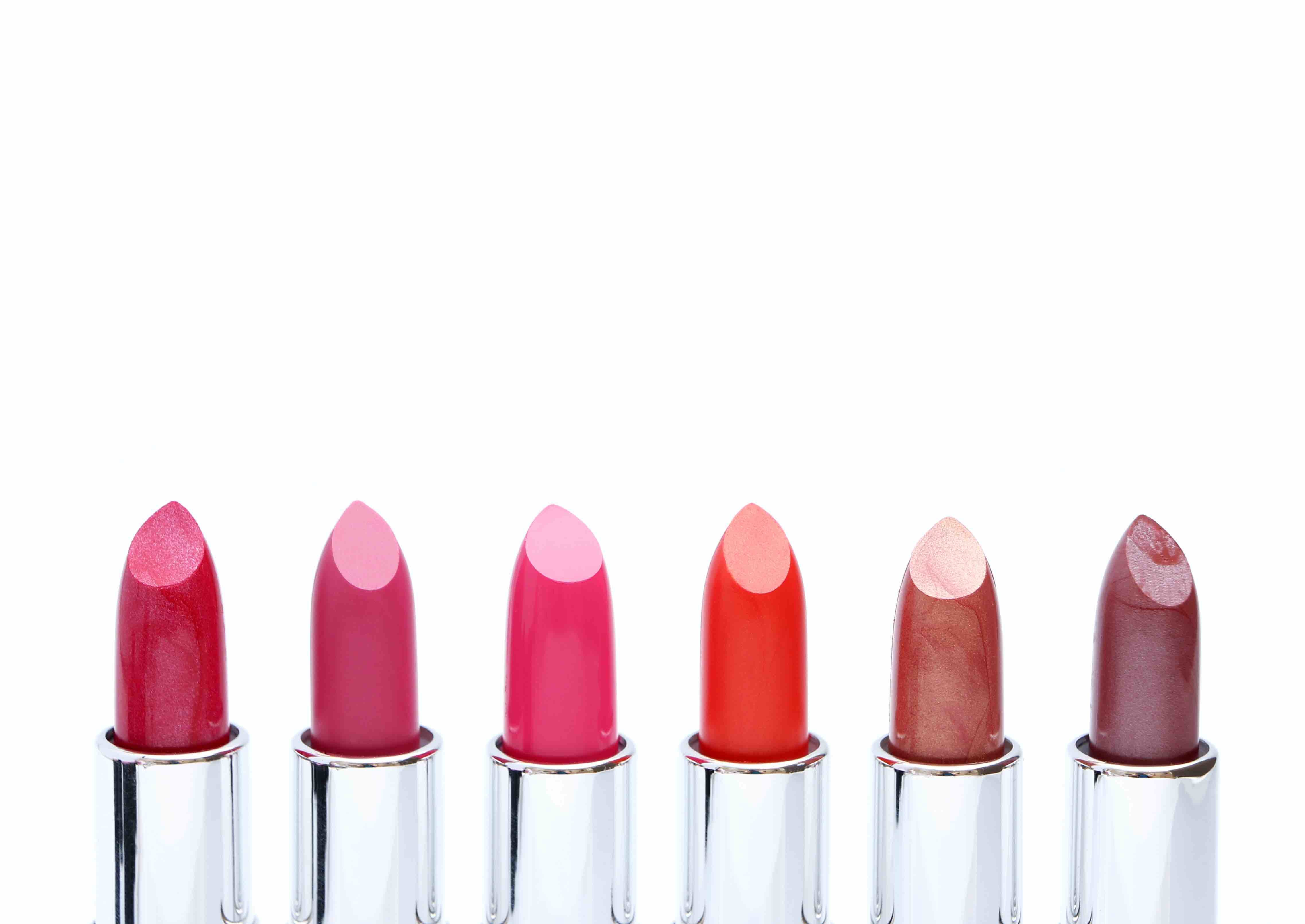 an array of lipstick colors min